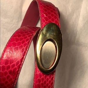 Genuine Snake skin removable buckle sleek classic